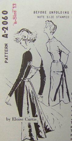 Vintage 1959 Spadea's ELOISE CURTIS Cocktail by raggspatternstash
