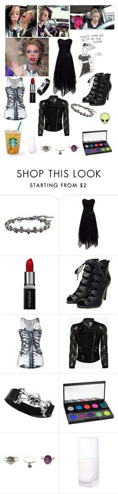 """grav3yardgirl"" by beaversruule ❤ liked on Polyvore featuring M. Cohen, Smashbox, Yigal AzrouÃ«l and Urban Decay"