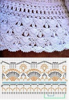 64 Ideas For Skirt Crochet Vanessa Montoro Crochet Skirt Pattern, Crochet Skirts, Crochet Motifs, Crochet Borders, Crochet Diagram, Crochet Stitches Patterns, Crochet Chart, Crochet Designs, Crochet Clothes