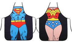 Wonder Woman and SuperMan Aprons Amazon Deal