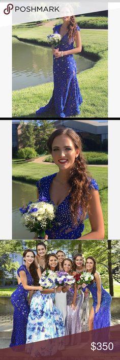 Jovani Lace Prom Dress Size 2- worn once-height 5'7 Jovani Dresses Prom