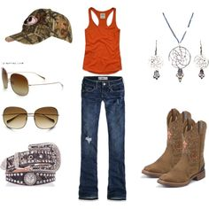 orange, created by marie11892 on Polyvore