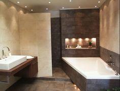 Tegels vormen altijd de basis voor elke badkamer. Bad & Design uw online… Bathroom Inspiration, Interior Inspiration, My Dream Home, Dream Homes, Luxury Living, Modern Decor, Interior Architecture, Sweet Home, Bathtub