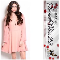 "💕Soft Pink Dress💕 It was love at first dress! I'm not sure if that's possible, but I really love this dress. Several sizes available. Comes in S,M,L Don't miss out!  ⭐️100% POLYESTER 🌟M measures 34"" Bust Dresses"