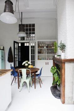 James van der Velden www.bricksamsterdam.com: kitchen, kitchen decor, kithen design, white, DIY, window, κουζίνα, διακοσμηση, σπίτι, smeg