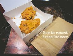 How to reheat Fried Chicken...so I actually tried this tonight! Ummmm, leftover chicken never tasted so good! Who knew!!!???!!!