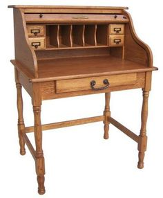"""Country Marketplace - 32"""" Solid Wood  Mini Roll Top Desk, $675.00 (http://www.countrymarketplaces.com/32-solid-wood-mini-roll-top-desk/)"""