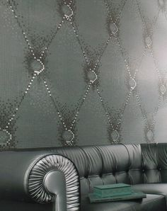 Bisazza Tile wall... and I love the couch too