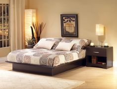 Dormitorio en Beige y Muebles en Wengue
