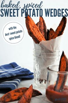 Baked Spiced Sweet Potato Wedges are a super flavorful side thanks to the best sweet potato spice blend! They're a versatile side dish and free of the top 8 most common food allergens. Egg Free Recipes, Best Gluten Free Recipes, Allergy Free Recipes, Real Food Recipes, Toddler Recipes, Appetizer Recipes, Snack Recipes, Appetizers, Veggie Recipes