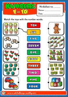 NUMBERS 1-10 WORKSHEET http://eslchallenge.weebly.com/english-yes-1.html