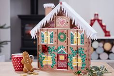 Go all out for your advent this Christmas and make a gingerbread-esque wonderland! This gingerbread house advent is guaranteed to be one that's passed down through the generations, with all love and detail that goes into it. Wooden House Advent Calendar, Diy Advent Calendar, Calendar Ideas, Christmas Candles, Diy Christmas Ornaments, Christmas Decorations, Christmas Ideas, Christmas Houses, Christmas Stuff