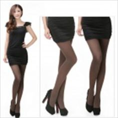 Velvet Full Foot Tights Pantyhose - Coffee $9.72