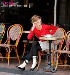 「FUDGE」掲載パリジェンヌみたいなフレンチシックな春。 Girl Fashion Style, Womens Fashion, Parisienne Style, Get Skinny, Red Cardigan, Parisian Chic, Fashion Books, Autumn Winter Fashion, Cool Girl