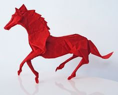 The Origami Animals of Matthieu Georger - I may have got my beginners guide to origami, but it's going to take me a while to get to this level I think...ha!