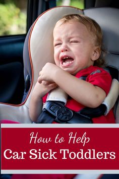 Toddler car sickness is really tricky to deal with because they don't often realise they are about to be sick. Here are some tips and tricks to help you manage car sick toddlers.