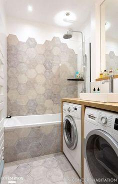 Small bath room washing machine ideas Ideas for 2020 Bathroom Design Software, Bathroom Design Layout, Bathroom Design Small, Bathroom Interior Design, Modern Bathroom, Bathroom Designs, Bathroom Ideas, Small Washing Machine, Washing Machines