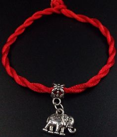 Red Twist Weave Lucky Rope - Save the Elephants