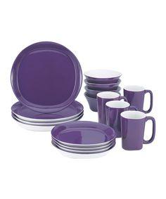 Purple 16-Piece Dining Set