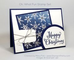 Stampin Up Christmas, Christmas Cards To Make, Xmas Cards, Christmas Fun, Holiday Cards, Mary Fish, Beautiful Christmas Cards, Christmas Catalogs, Embossed Cards