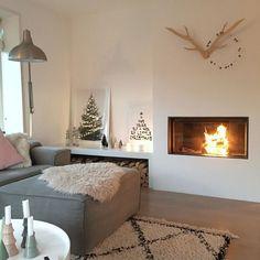 Living Room Inspiration, Interior Inspiration, Modern Fireplace, Love Home, Scandinavian Home, Next At Home, House Rooms, Home Living Room, Sweet Home