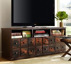 Andover Media Console - Weathered Walnut finish.  Need this for my living room.