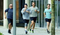 Harry jogging in Dunkirk, France this morning 16-6-16