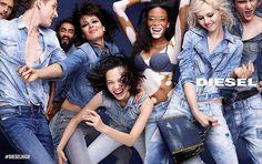 Model with vitiligo, Winnie Harlow, leads the cool new Diesel campaign Jeans Diesel, Fashion Advertising, Advertising Campaign, Vitiligo Model, Chantelle Brown Young, Model Winnie Harlow, Streetwear, Coachella, Kiko Mizuhara
