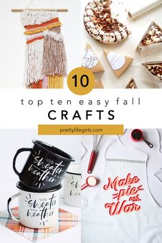 Top 10 Easy Fall Crafts - The Pretty Life Girls | Because fall crafting is some of our favorite crafting, we're sharing a list of ten of our favorite easy fall crafts! These DIY projects are great for kids or adults - there is something for everyone! And whether you're looking to sell, give away, or just use around your house, we think you'll love these ideas! #falldecor #easyfallcrafts #fallprojects #easyfallprojects #fallDIY #fallDIYprojects