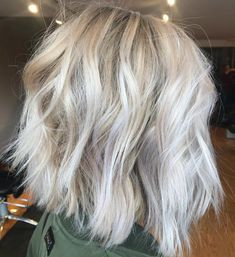 Messy Silver Bob with Choppy Ends