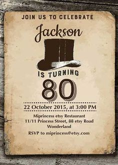 A selection of tasteful birthday invitations chosen by a professional party planner 60th Birthday Party Invitations, Birthday Parties, Birthday Ideas, 60 Birthday, Vintage Invitations, Invites, Milestone Birthdays, Rsvp, Party Ideas