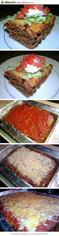 """Mexican Meatloaf! """"A Mexican meatloaf that will satisfy even your pickiest eaters. ~ Any leftovers can be easily recycled into tacos, quesadillas and burritos.""""  @allthecooks #recipe #mexican #meatloaf #dinner #beef #casserole"""