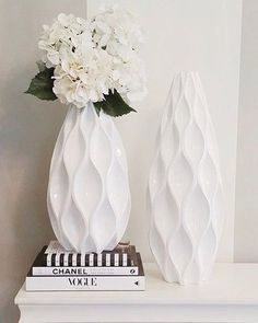 Sequence Vase – – White by Z Gallerie - Decor Style Flower Vases, Flower Arrangements, Affordable Modern Furniture, Christmas Candle Holders, White Vases, Home Decor Store, Interior Decorating, Interior Design, Vases Decor