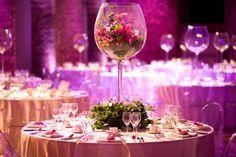 deco table mariage : le grand verre à décorer comme un aquarium