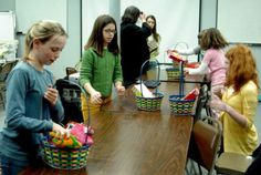 Make Easter Baskets for a service project