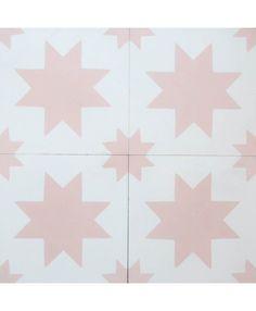 Estrella White Pink Encaustic Cement Tile