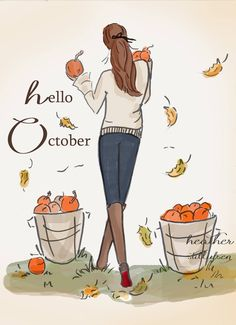 Rose Hill Designs by Heather Stillufsen Rose Hill Designs, Hello Weekend, Illustrations, Hello Autumn, Autumn Fall, Months In A Year, Happy Fall, Fall Season, Fall Halloween
