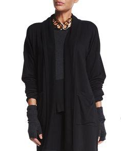 Merino Jersey Glovettes, Tourmaline - Eileen Fisher