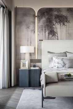 Mid-Century Bedroom Decor Tips & Tricks to Make This Bedroom Decor Last You Seasons and Seasons. Decorating a bedroom decor might be one of the biggest hardship Serene Bedroom, Home Bedroom, Bedroom Decor, Master Bedroom, Bedroom Ideas, Bedroom Furniture, Master Suite, Bedroom Neutral, Bedroom Country