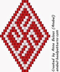 Peyote earring or pendant patterns Peyote Stitch Patterns, Seed Bead Patterns, Loom Patterns, Beading Patterns, Brick Patterns, Seed Bead Jewelry, Seed Bead Earrings, Beading Projects, Beading Tutorials
