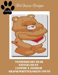 (4) Name: 'Crocheting : Care Bears Tenderheart Crochet Graph