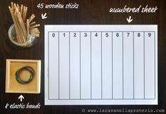 DIY Montessori Materials: Spindles