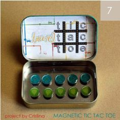 I like this .. great for little kids and waiting time. Magnetic tic tac toe from Altoids box. Keep one in your purse or make them as gifts for the kids friends?