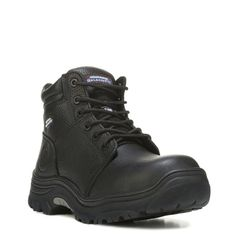 Skechers Work Men's Burgin Memory Foam Composite Toe Wide Work Boots (Black)