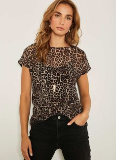 Mint Velvet Tessa Leopard Print Top Size 14 Immaculate Worn Once Leopard Print Outfits, Leopard Print Top, Black Sequin Top, Square Neck Top, Printed Tees, T Shirts, Fashion News, Fashion Outfits, How To Wear