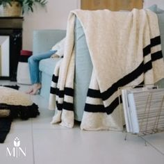 This knit washable blanket from Lorena Canals is a crowd favorite!