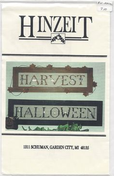 Clearance Charmed Sampler Harvest/Halloween by SusansStitcheryInc