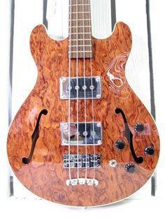 New Old Stock Warwick Star Bass II High Gloss 4 String Hollow Body Germany