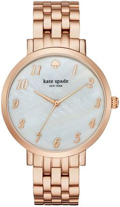 kate spade new york Women's Monterey Rose Gold-Tone Stainless Steel Bracelet Watch - Watches - Jewelry & Watches - Macy's Holiday Jewelry, Jewelry Party, G Shock, Cartier, Kate Spade New York, Kate Spade Watch, Piercings, Rolex, Rose Gold Watches