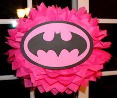 making these. Bat Girl Superhero tissue paper pompom kit
